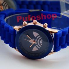 Ceas sport de dama, curea silicon - albastru + cutie CADOU si TRANSPORT GRATUIT