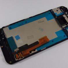 HTC One M9 Display nou Ansamblu complet cu touchscreen si rama geam sticla GRI - Display LCD