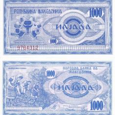 MACEDONIA 1.000 dinari 1992 UNC!!!