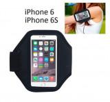 Armband husa brat telefon pt alergat pentru iPhone 6 6S 7 8 husa mana, iPhone 6/6S, Negru