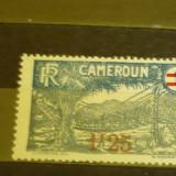 CAMERUN 1926 – POD SUSPENDAT, timbru nestampilat cu SUPRATIPAR B113