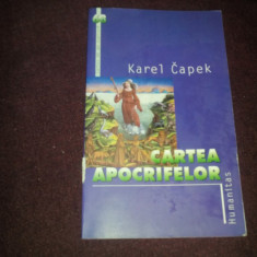 KAREL CAPEK - CARTEA APOCRIFELOR - Roman istoric