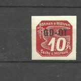 REICH (BOEMIA SI MORAVIA) 1939 – timbru MNH cu SUPRATIPAR, GD21, Nestampilat