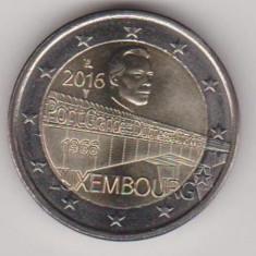 LUXEMBURG moneda 2 euro comemorativa 2016, UNC