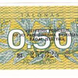 Lituania bancnota 0, 5 TALONAS 1991 UNC - bancnota europa, An: 1912