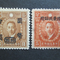TIMBRE CHINA SET-MNH-DUBLU TIPAR, Nestampilat