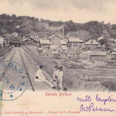 SALINELE DOFTANA , TCV , CLASICA , CIRCULATA AUG. 1902 , FOTOGR. F. DUSCHEK