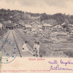 SALINELE DOFTANA, TCV, CLASICA, CIRCULATA AUG. 1902, FOTOGR. F. DUSCHEK - Carte postala tematica, Printata
