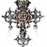Pandantiv Crucea cu trandafiri - Pandantiv fashion