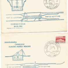 (No2) plic omagial-INAUGURAREA CANALULUI DUNARE-MAREA NEAGRA- 1984, An: 1977