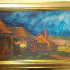 Tablou piesaj baimarean NAGY OSZKAR - Pictor roman, Peisaje, Ulei, Impresionism