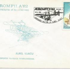 (No2) plic omagial-Centenarul nasterii lui Aurel Vlaicu-1982 Orastie, An: 1981