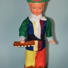 Papusa baiat in costum traditional etnic / etno / rustic / popular, 17cm,