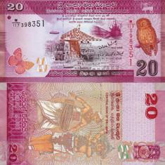 SRI LANKA 20 rupees 2010 UNC!!! - bancnota asia
