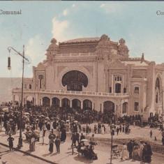CONSTANTA, CAZINOUL COMUNAL, CIRCULATA APR. 1915 - Carte Postala Dobrogea 1904-1918, Printata