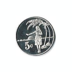 Tokelau 5 Centi 2012 - Elizabeth II, Bronze, Proof, 23 mm, KM-New UNC !!!, Australia si Oceania