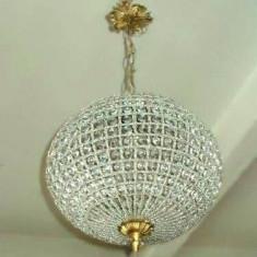 Deosebit candelabru integral lucrat manual din sticla cristalizata - Corp de iluminat, Lustre