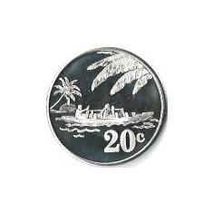 Tokelau 20 Centi 2012 - Elizabeth II, Bronze, Proof, 31.75 mm, KM-New UNC !!!, Australia si Oceania