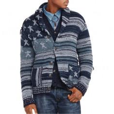 Cardigan RL Americana Cotton Cardigan L si XL - Bluza barbati, Marime: L, Culoare: Albastru