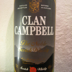 Whisky, CLAN CAMPBELL, blended scotch wisky, cl.70 gr.40 ani 80