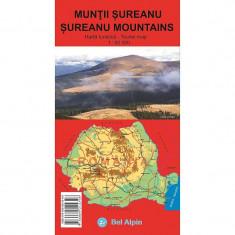 Bel Alpin Harta Muntii Sureanu - Harta Turistica