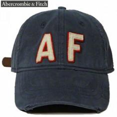 Sapca Abercmobie&Fitch Applique Logo - Sapca Barbati Abercrombie & Fitch, Marime: Marime universala, Culoare: Albastru
