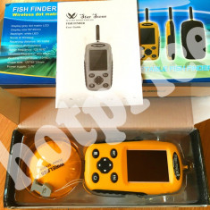Sonar WIRELESS, COLOR, Fish Finder, de pescuit, peste, fara fir pt navomodel - Sonar Pescuit Laserfish