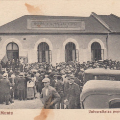 VALENII DE MUNTE UNIVERSITATEA POPULARA N.IORGA FONDATA IN 1903 CIRC.AUG.1937 - Carte Postala Muntenia dupa 1918, Circulata, Printata