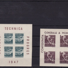ROMANIA - LOT 2 COLITE 1947, MNH - LOT 1 RO - Timbre Romania, Nestampilat