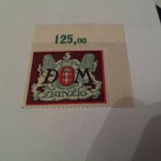 Germania/danzig 1922 porto blazoane/serie MH/MNH, Nestampilat