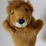 Marioneta teatru de papusi, papusa manuala, leu, regele animalelor, jungla - Jucarii plus