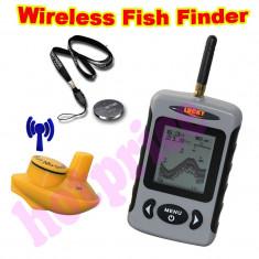Sonar WIRELESS, Fish Finder, de pescuit, peste, fara fir pt navomodel baterii AA - Sonar Pescuit Laserfish