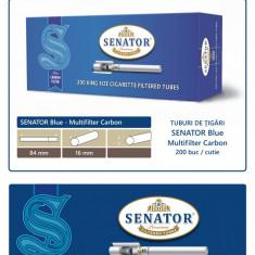 2.000 tuburi de tigari SENATOR Blue - Multifiltru Carbon pentru injectat tutun