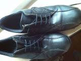 Pantofi sport barbati piele marime 41, Negru