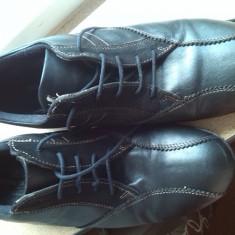 Pantofi sport barbati piele marime 41 - Adidasi barbati, Culoare: Negru