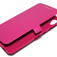 HUSA HTC DESIRE 820 CU INCHIDERE MAGNETICA ROZ - Husa Telefon HTC, Negru