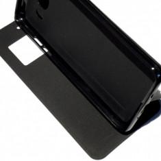 Husa Protectie Toc Flip Cover Samsung Galaxy J5 2016 + Folie CADOU!!!, Negru, Piele Ecologica