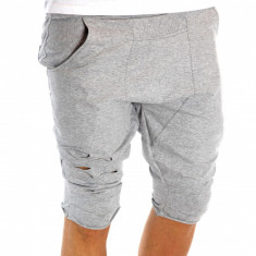 Pantaloni de trening scurti tip ZARA gri - pantaloni barbati 6582 - Bermude barbati, Marime: S, Culoare: Din imagine