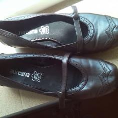 Pantofi dama maro comozi piele marime 39, Cu talpa joasa