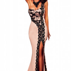 K459 Rochie de seara tip sirena, pe un umar, decorata cu dantela, Marime: M/L, Din imagine, Maxi
