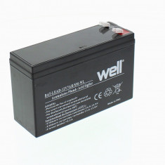 WELL Acumulator plumb acid 12V7Ah carcasa mica Well - UPS