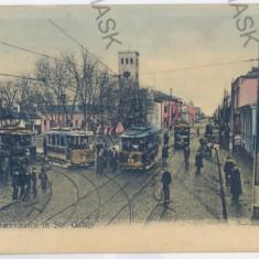 843 - GALATI, Tramway - old postcard - unused - Carte Postala Moldova 1904-1918, Necirculata, Printata