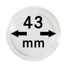 CAPSULE pentru monede, pvc, LINDNER Ǿ 43 mm