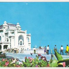 Bnk cp Constanta - Restaurantul Cazino si faleza - circulata - Carte Postala Dobrogea dupa 1918, Printata