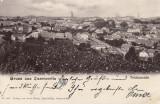 CERNAUTI  SALUTARI DIN CERNAUTI  VEDERE GENERALA CLASICA  1900  EDIT. LEON KONIG, Circulata, Printata