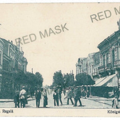 817 - BRAILA, street Regala - old postcard - used - 1917 - Carte Postala Muntenia 1904-1918, Circulata, Printata