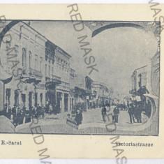 234 - Buzau, Rm. SARAT, street Victoria - old postcard - unused - Carte Postala Muntenia 1904-1918, Necirculata, Printata