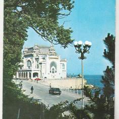 Bnk cp Constanta - Restaurantul Cazino - uzata - Carte Postala Dobrogea dupa 1918, Circulata, Printata
