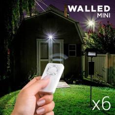 Lampe LED WalLED Mini cu Telecomandă (pachet de 6)