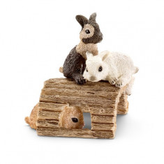 Figurine Animale Iepuri Tineri Jucandu-Se - Figurina Animale Schleich